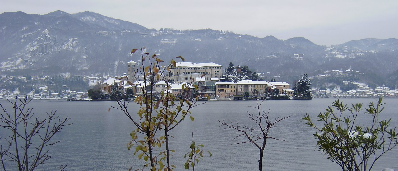 La neve ad Orta…un avvenimento eccezionale!